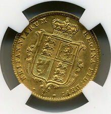 GREAT BRITAIN 1864 GOLD HALF SOVEREIGN DIE NGC UNC DETAILS