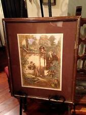 Vintage English Colored Signed Lithograph Litho