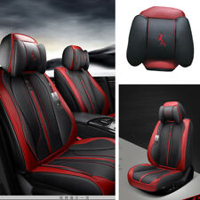 Universal Luxury Leather Car 5-Seat Chair Covers Protector Cushion Four Seasons