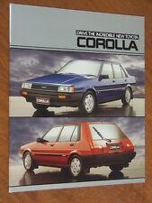 1985 Toyota Corolla original Australian large format 18 page brochure