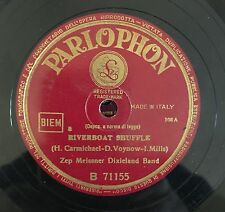 """RARE 78RPM 10"""" PARLOPHON ZEP MEISSNER DIXIELAND BAND RIVERBOAT SHUFFLE WHO'S SOR"""