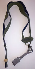 Fly Fishing Lanyard With Magnum Line Clippers Nippers Olive Cork Chammy
