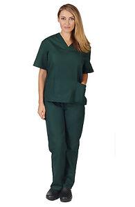 Medical Nursing Scrub Set NATURAL UNIFORMS Men Women Unisex Top Pants BP101