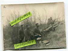 Foto : Deutsche Soldaten mit Minenwerfer mit Gas-Granaten im 1.WK