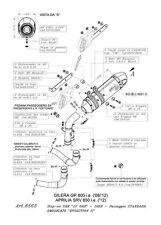 SCARICO LEOVINCE SBK TERMINALE  LV ONE OMOLOGATO GILERA GP 800 APRILIA  SRV 850