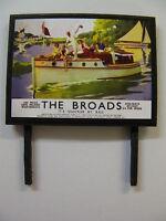 N /& OO Gauge Model Railway Billboard The Broads It/'s Quicker by Rail
