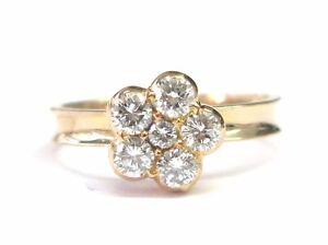 22KT Circular Diamond Flower Jewelry Ring ROSE GOLD .65CT