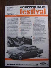Ford Taunus Festival (colección), consistente/Advert Sheet, D