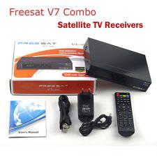 DVB S2+T2 Decoders Freesat V7 Combo Digital TV Satellite Receivers USB WIFI Box