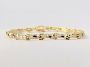 "Gorgeous 14kt yellow gold Bamboo 7"" Bracelet"