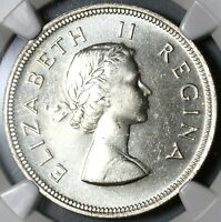 1960 NGC PF 65 South Africa Proof 2 1/2 Shillings 1/2 Crown Coin (19100906C)