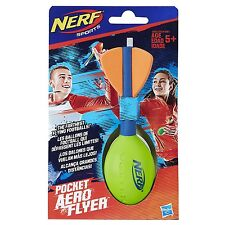 Brand New NERF Vortex POCKET AERO FLYER Flying Football Howler GREEN