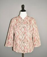 CHICO'S $99 Multi-Color Printed 3/4 Sleeve Button Front Jacket 2 / Large
