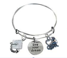 Cheer Graduation Live Your Dreams Bangle Bracelet