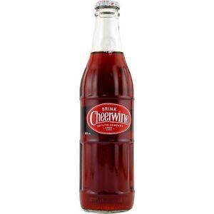 Cheerwine Cherry Soda Pop - 6 BOTTLES - Longneck Glass Bottles