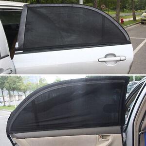 2pcs Car SUV Rear Side Window Mesh Sun Visor Shade Cover Shield UV Protector