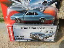 2016 AUTO WORLD 1:64 *PREMIUM 5A* Blue 1966 Oldsmobile Olds 442 *NIP!*