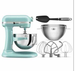 KitchenAid Professional Plus 5 Quart Bowl-Lift Stand Mixer w/Bundle Aqua Blue
