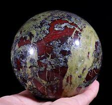 1270g Natural Dragon Blood Stone Jasper Crystal Ball MS123