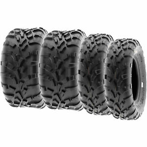 SunF 25x8-12 25x11-12  All Terrain ATV UTV Tires 6 PR Tubeless  A010 [Bundle]