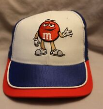 M&M's Racing Team #38 M&M's Collectible Hat Adjustable Hat Blue and White
