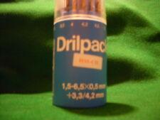 HSS-CO Spiralbohrer DIN 338/VA in DRILLBOX  13 Stück  1,5  -  6,5 + 3,3 + 4,2 mm