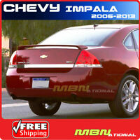 06-13 Chevy Impala Rear Trunk Spoiler Color Matched Painted ABS WA8555 BLACK