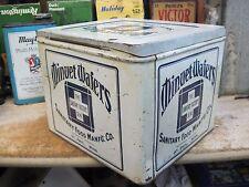 antique store tin MINUET WAFERS SANITARY FOOD CO ST PAUL MINNESOTA original 2 LB