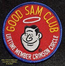 "LMH Patch GOOD SAM CLUB Refer-a-Friend LIFETIME MEMBER CRIMSON CIRCLE Sam's 3.5"""