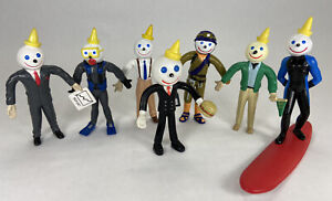 Vintage Jack in the Box Bendable Poseable Figures Surfing Jack Lot of 7