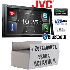 JVC Radio für Skoda Octavia 2 1Z Blues Stream Auto Bluetooth USB Weblink Waze