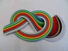 Quilling paper, 175 strips in 2mm, 3mm, 5mm, and 10mm.  450mm long