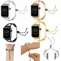 Stainless Steel Bracelet Bangle Cuff Band For Apple Watch Series 3 2 1 38mm/42mm