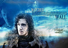 A3 RE POSITIONAL FABRIC POSTER G.O.T JON SNOW 19