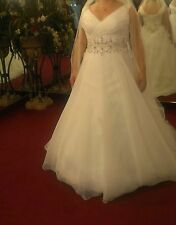 beautiful, beaded, new, unaltered size 20 wedding gown