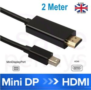 2M Mini DisplayPort DP to HDMI Male Thunderbolt Adapter Cable For MacBook 1080P
