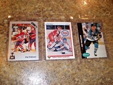 (3) 1990-91 Pat Falloon Upper Deck 7th Inning Sketch Rookie card lot RC 1992 Pro