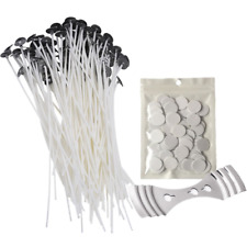 Homankit Candle Making Kit | 100 Pieces x 20cm Pre Waxed Wicks with Sustainer 1