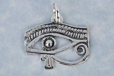 COLGANTE OJO DE HORUS DE PLATA amuleto protección perfección salud cm 2,3 x 1,8