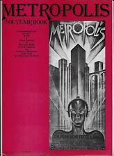 Metropolis Souvenir Book Program Guide 1978 Fritz Lang Movie Queen Radio Ga Ga