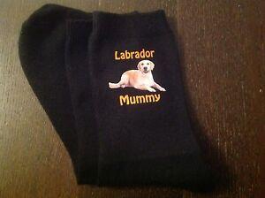 LABRADOR MUMMY PRINTED SOCKS BIRTHDAY MOTHERS DAY GIFT BAG PRESENT MUM