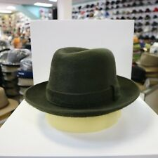 BORSALINO OLIVE GREEN LONG HAIR FUR FELT DRESS HAT *READ DESCRIPTN FOR SIZE