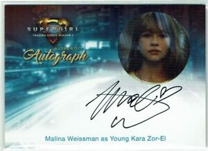 Supergirl Season 1 2018 Autograph Card MW Malina Weissman as Young Kara Zor-El