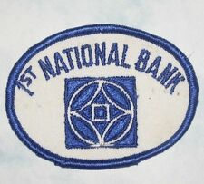 """1st National Bank Patch - vintage - 3 3/8"""" x 2 1/2"""""""