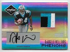 2006 DeAngelo Williams Leaf Limited Auto Jersey Patch #17/25