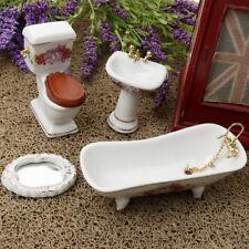 Miniature Porcelain Furniture Model For Dollhouse Bathroom Life Scene Decor