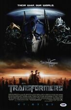 SHIA LABEOUF SIGNED TRANSFORMERS 11X17 MOVIE POSTER PSA COA AD74548