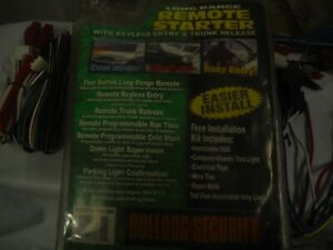 Bulldog Security Remote Vehicle Starter System w/ Keyless Entry & Trunk Release