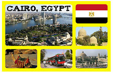 CAIRO, EGYPT - SOUVENIR NOVELTY FRIDGE MAGNET - FLAGS / SIGHTS - NEW / GIFT