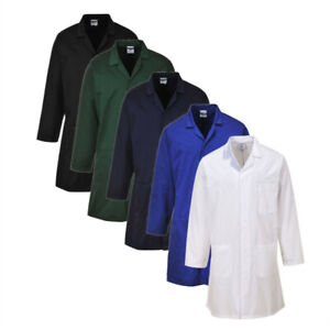 Portwest 2852 - Black Navy White RoyaL Blue Standard Lab Warehouse Coat Jacket